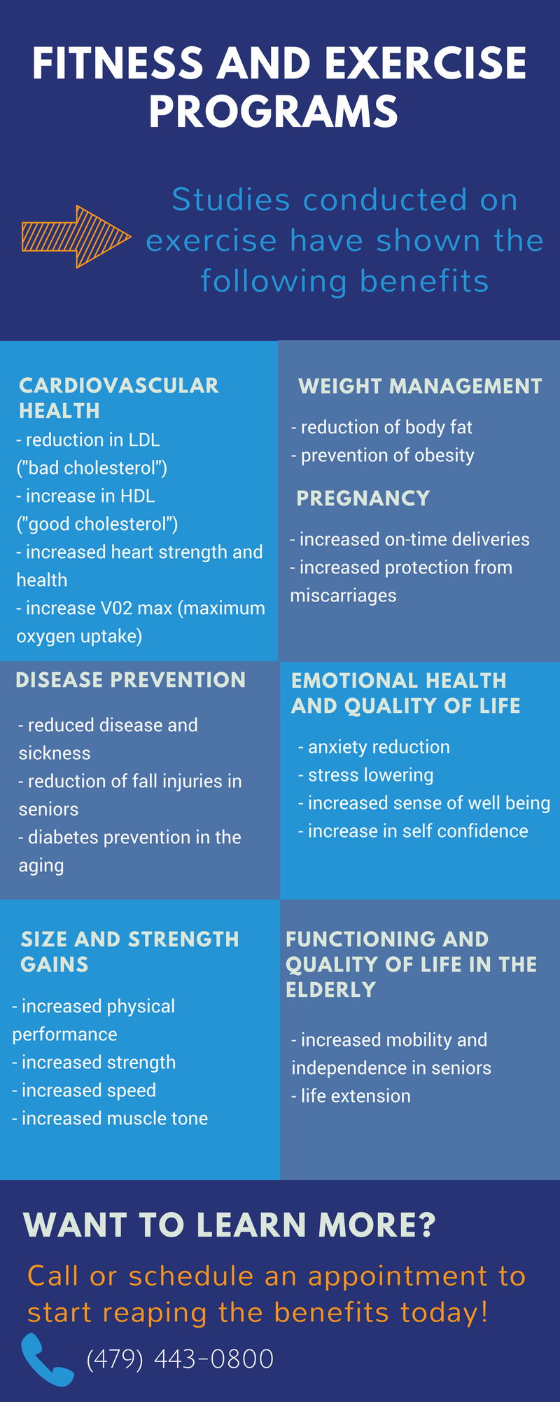Fitness and Exercise Program Infographic